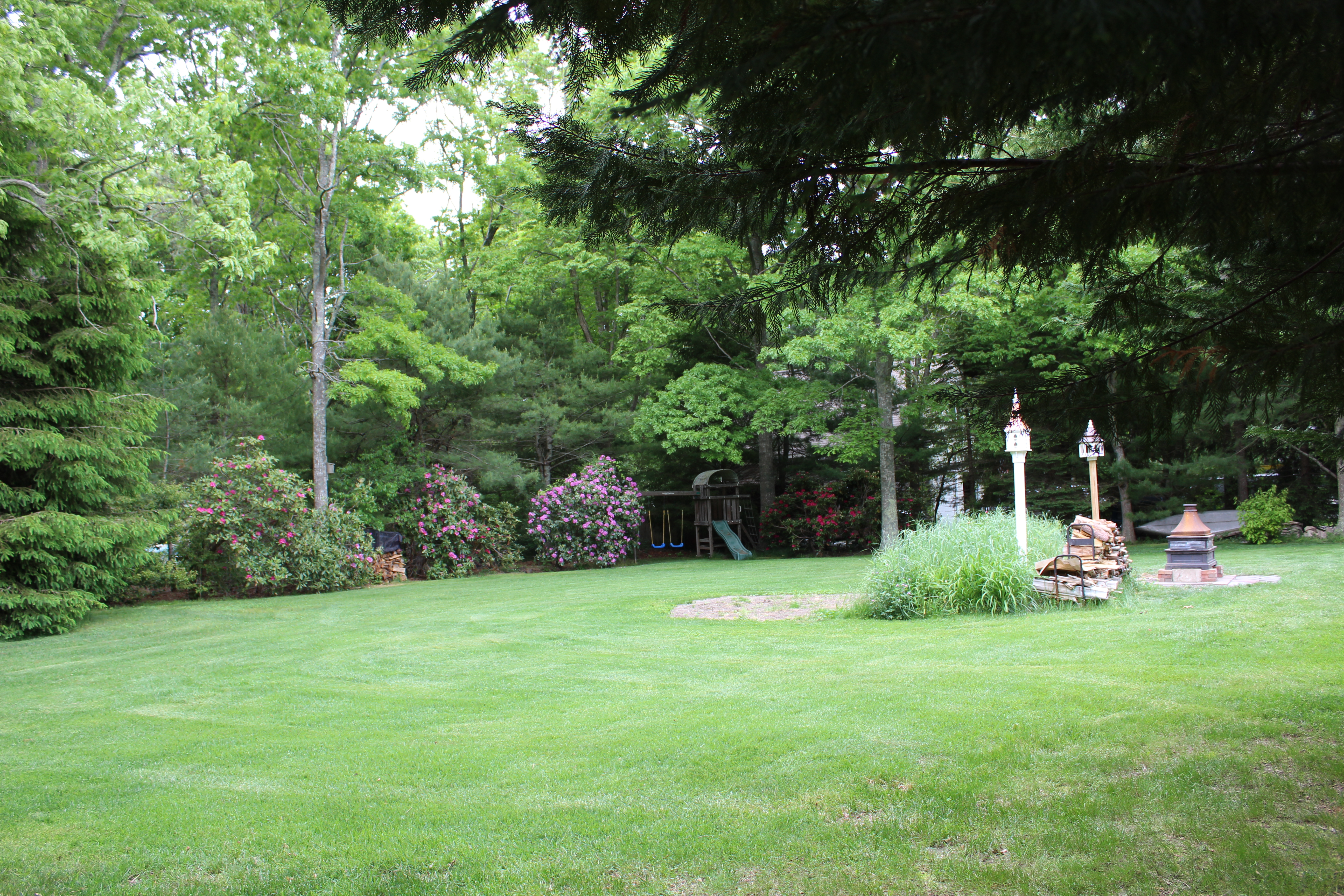 Fenced In Backyard with Swing Set, Turtle Cove, Cape Cod