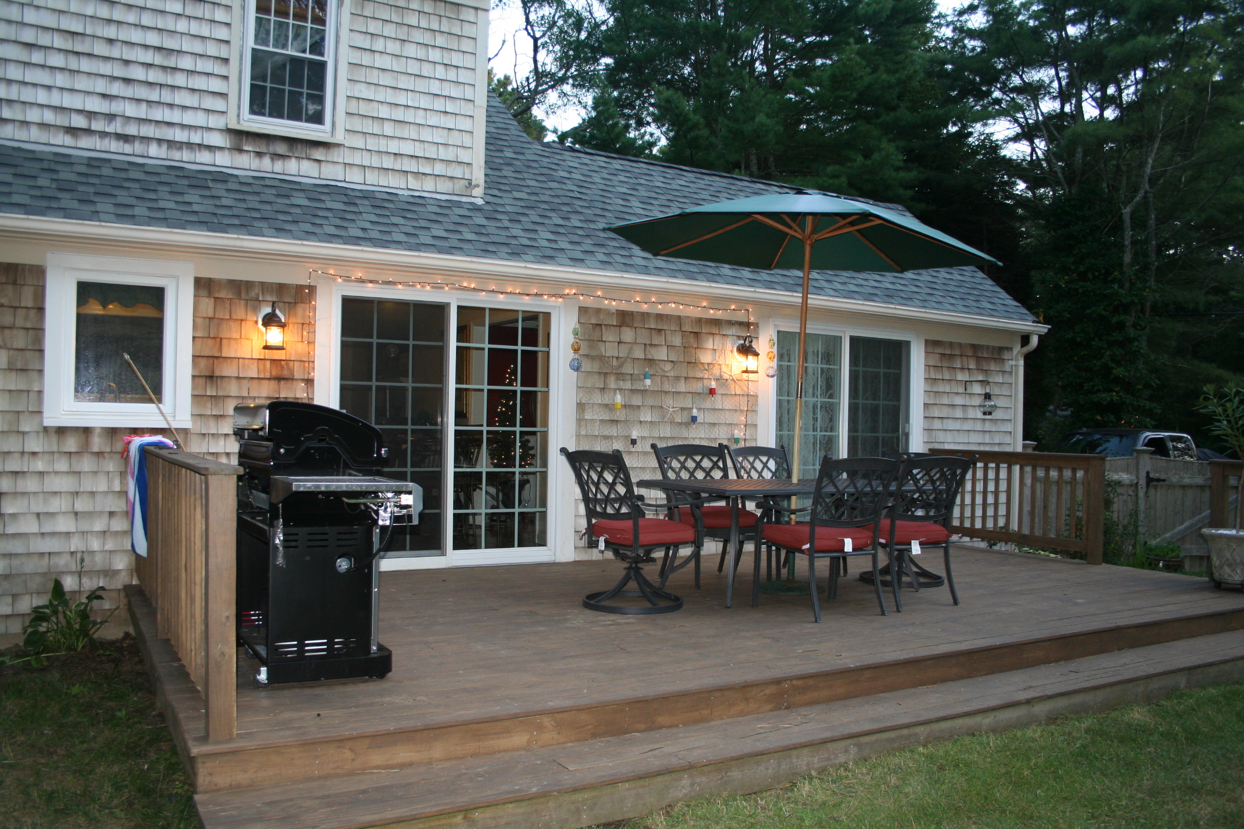Back Patio with Furniture, Turtle Cove, Cape Cod